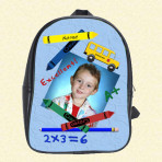 Personalized Back to School Blue Backpack
