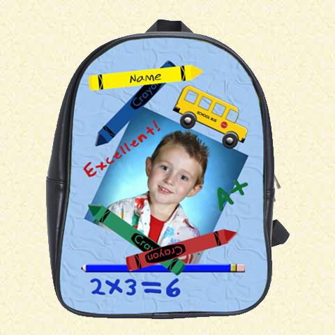 Back to School blue School Bag (Duplicate)