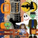 Halloween Digital Scrapbooking Kit Free Quick Pages