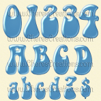 Light Blue Balloon Alphabet