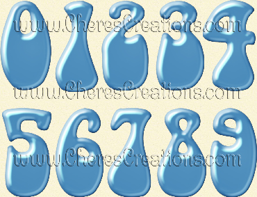 Light Blue Balloon Alphabet Free Numbers