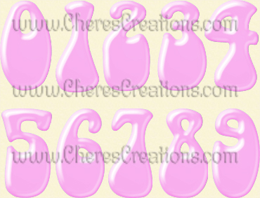 Pink Alphabet Free Numbers