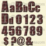 Brick Alphabets and Frames with Free Quick Pages