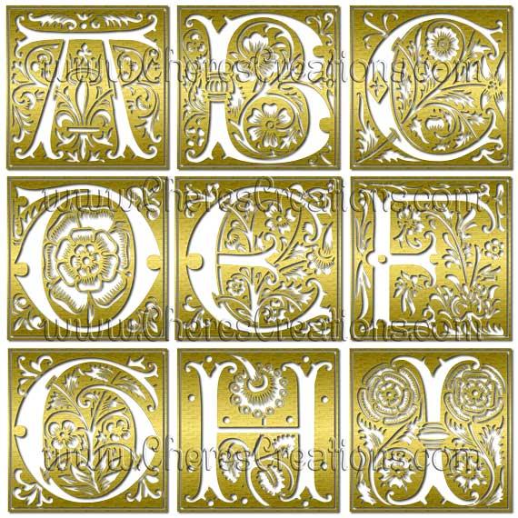 Fancy Capital Letters Digital Alphabet