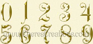 Fancy Green Alphabet Free Numbers