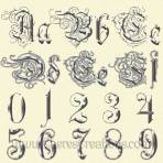 Fancy Gold or Silver Alphabet with Free Numbers
