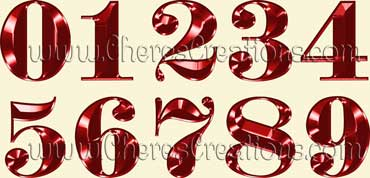 Fancy Red Alphabet Free Numbers