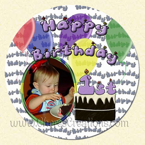 First Birthday 5 inch Magnet