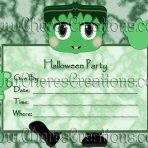 Halloween Party Invitations 7x 5 inches