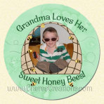 Sweet Honey Bees Round 3 Inch or 5 Inch Magnet