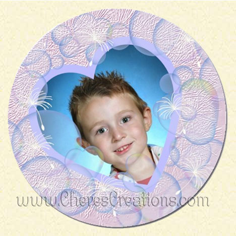 Bubbles Round 5 inch Magnet