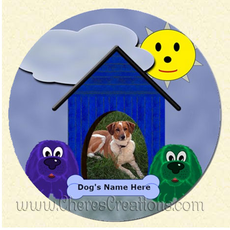 Doghouse Round 3 Inch or 5 inch Magnet