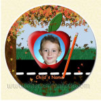 Fall Round 3 Inch or 5 inch Magnet