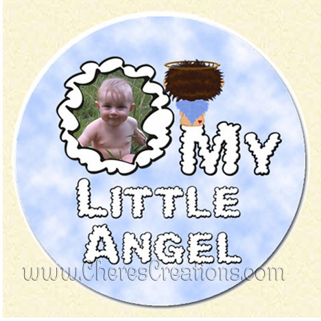 My Little Angel Boy Round 3 Inch or 5 Inch Magnet