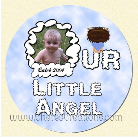 My Little Angel Girl Round 3 Inch or 5 Inch Magnet