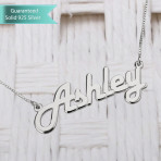 Sterling Silver Italic Name Necklace Customizable Personalized Fine Jewelry