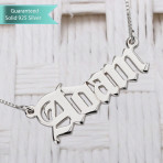 Sterling Silver English Style Name Necklace Customizable Personalized Fine Jewelry
