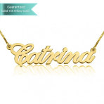 14K Gold Allegro Name Necklace Customizable Personalized Fine Jewelry