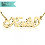 14K Gold Carrie Name Necklace Customizable Personalized Fine Jewelry