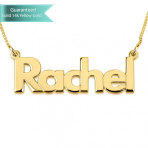 14K Gold Bold Print Name Necklace Customizable Personalized Fine Jewelry