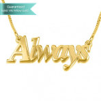 14K Gold Thicker Font Name Necklace Customizable Personalized Fine Jewelry