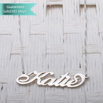 Sterling Silver Carrie Name Necklace Customizable Personalized Fine Jewelry