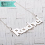 Sterling Silver Bold Print Name Necklace Customizable Personalized Fine Jewelry