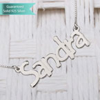 Sterling Silver Tree Style Name Necklace Customizable Personalized Fine Jewelry