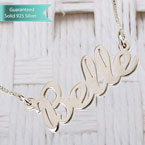 Sterling Silver Handwriting Name Necklace Customizable Personalized Fine Jewelry