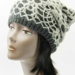 Crocheted Layer Warm Winter Acylic Beanie Hat And Cap In One Size Three Colors