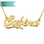 14K Gold Allegro With Small Line Name Necklace Customizable Personalized Fine Jewelry