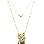 Chevron Metal Fringe Necklace