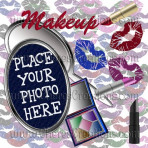 Make Up Cosmetic Digital Scrapbook Kit With Over 100 Graphics