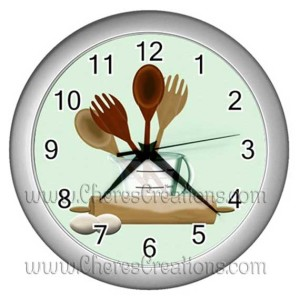 kitchen-clock-Silver