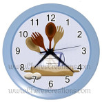 Kitchen Wall Clock 10″ Diameter Plastic Frame and Face Cover Choice of 7 Colors