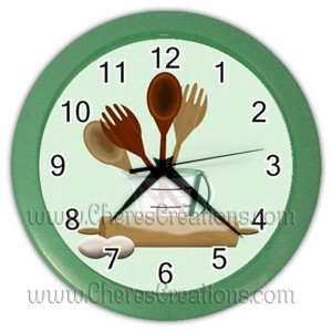 kitchen-clock-green