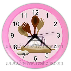 kitchen-clock-pink
