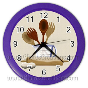kitchen-clock-purple