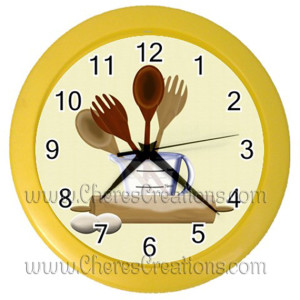 kitchen-clock-yellow