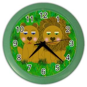 lions-clock-green