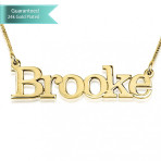 24K Gold Plated Elephant Style Name Necklace Customizable Personalized Fine Jewelry