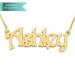 24K Gold Plated Harrie Sytle Name Necklace Customizable Personalized Fine Jewelry