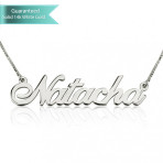 14K White Gold Allgro Name Necklace Customizable Personalized Fine Jewelry