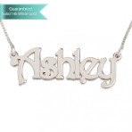 14k White Gold Harrie Style Name Necklace Customizable Personalized Fine Jewelry