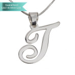 Sterling Silver Initial Necklace Customizable Personalized Fine Jewelry