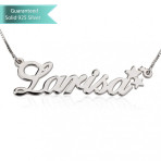 Sterling Silver Allegro with Stars Name Necklace Customizable Personalized Fine Jewelry