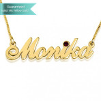 14K Gold Swarovski Allegro Name Necklace Customizable Personalized Fine Jewelry