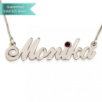 Sterling Silver Swarovski Allegro Name Necklace Customizable Personalized Fine Jewelry