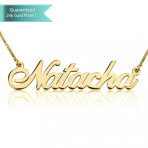 24K Gold Plated Allegro Name Necklace Customizable Personalized Fine Jewelry