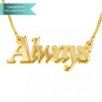 24K Gold Plated Thicker Font Name Necklace Customizable Personalized Fine Jewelry